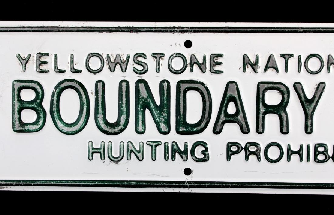 Yellowstone National Park Boundary Line Sign - 4