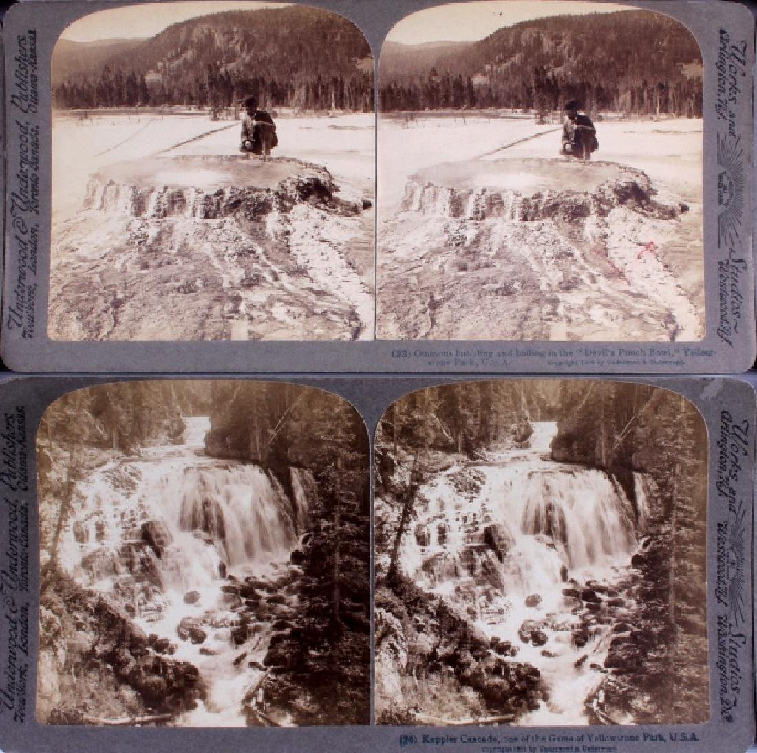 Yellowstone National Park Stereoview Set c.1904 - 10