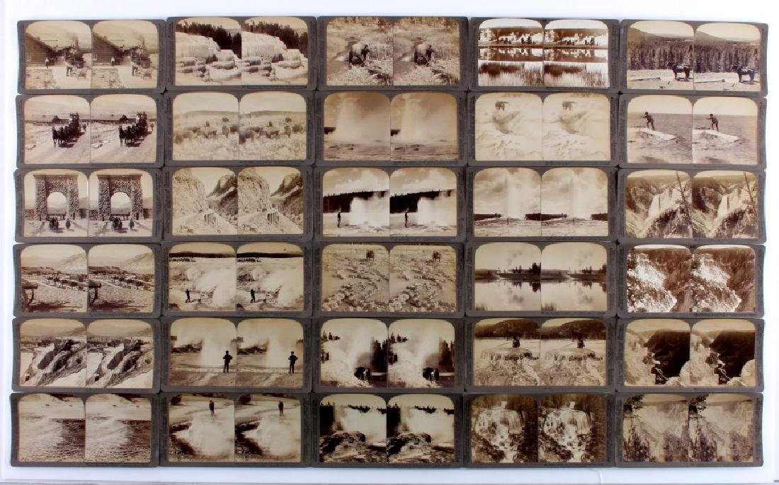 Yellowstone National Park Stereoview Set c.1904 - 11