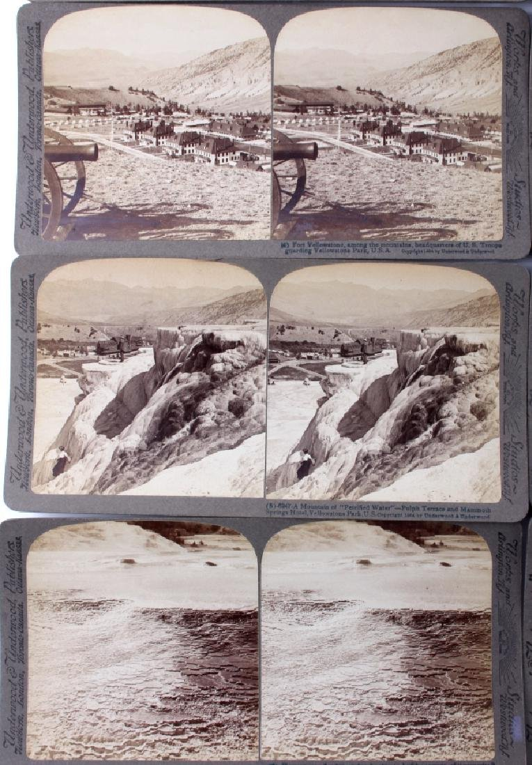 Yellowstone National Park Stereoview Set c.1904 - 4