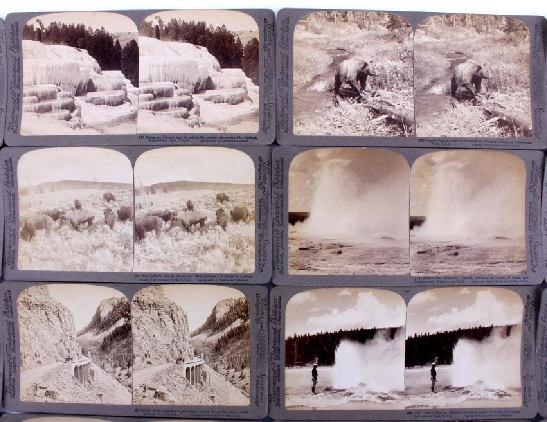 Yellowstone National Park Stereoview Set c.1904 - 5