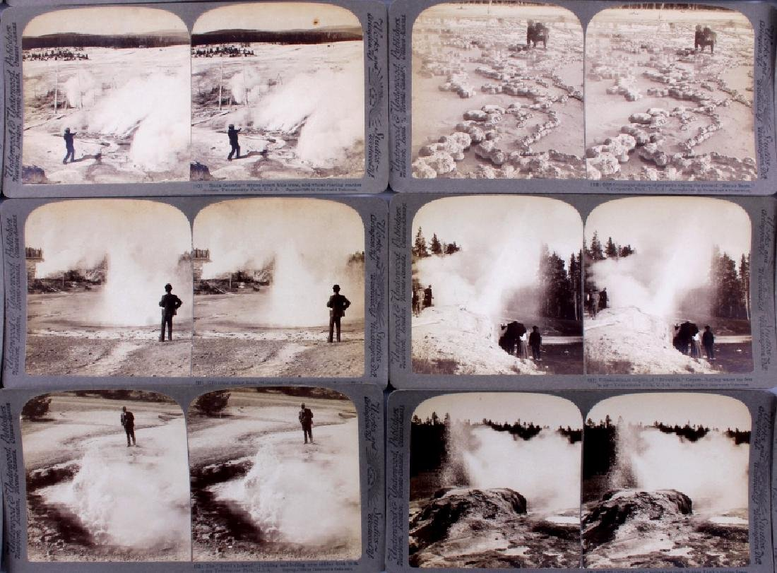 Yellowstone National Park Stereoview Set c.1904 - 6