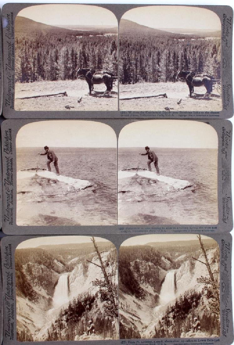 Yellowstone National Park Stereoview Set c.1904 - 7