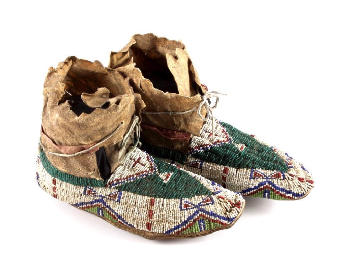 Oglala Lakota Sioux Beaded Moccasins c. 1860-1870 - 2