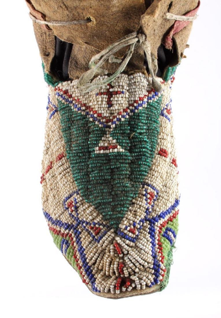 Oglala Lakota Sioux Beaded Moccasins c. 1860-1870 - 5
