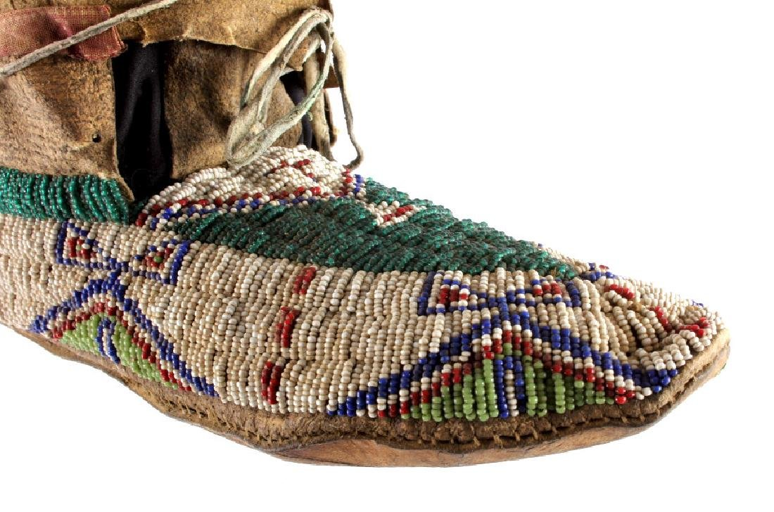 Oglala Lakota Sioux Beaded Moccasins c. 1860-1870 - 6