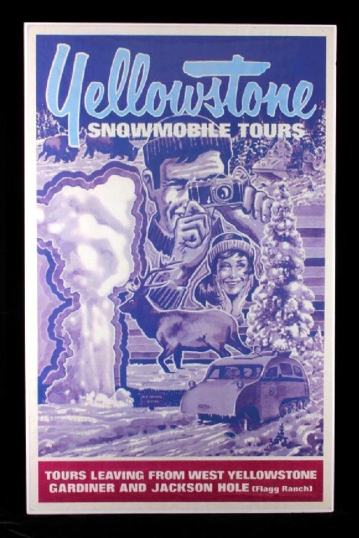 Original Yellowstone Park Snowmobile Tour Poster