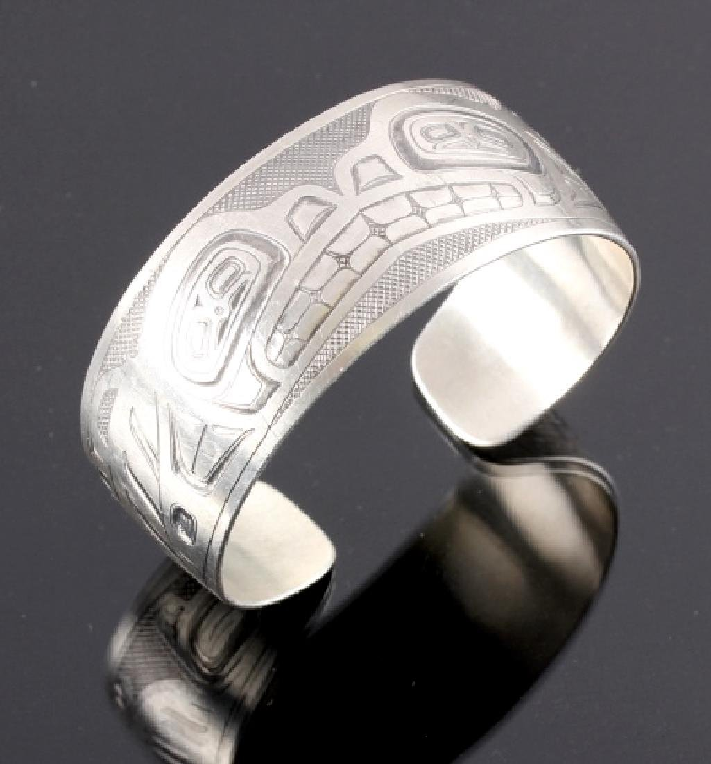 Haida Indian Signed Sterling Silver Cuff