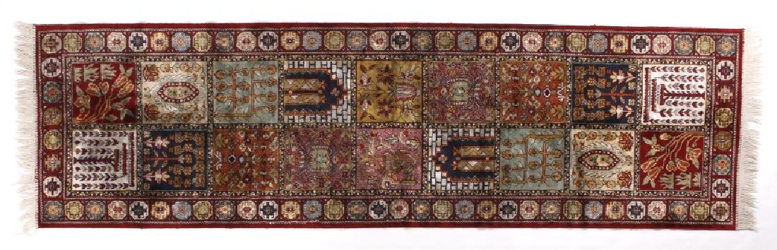 Exceptional Oriental Afghani Kazak Silk Runner Rug