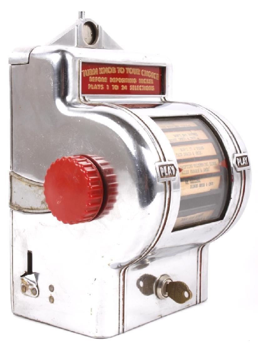 Packard Paymor Butler Wallbox Jukebox Remote
