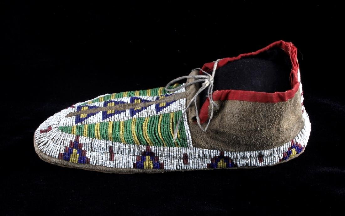 Cheyenne Fully Beaded Moccasins circa 1880 - 10