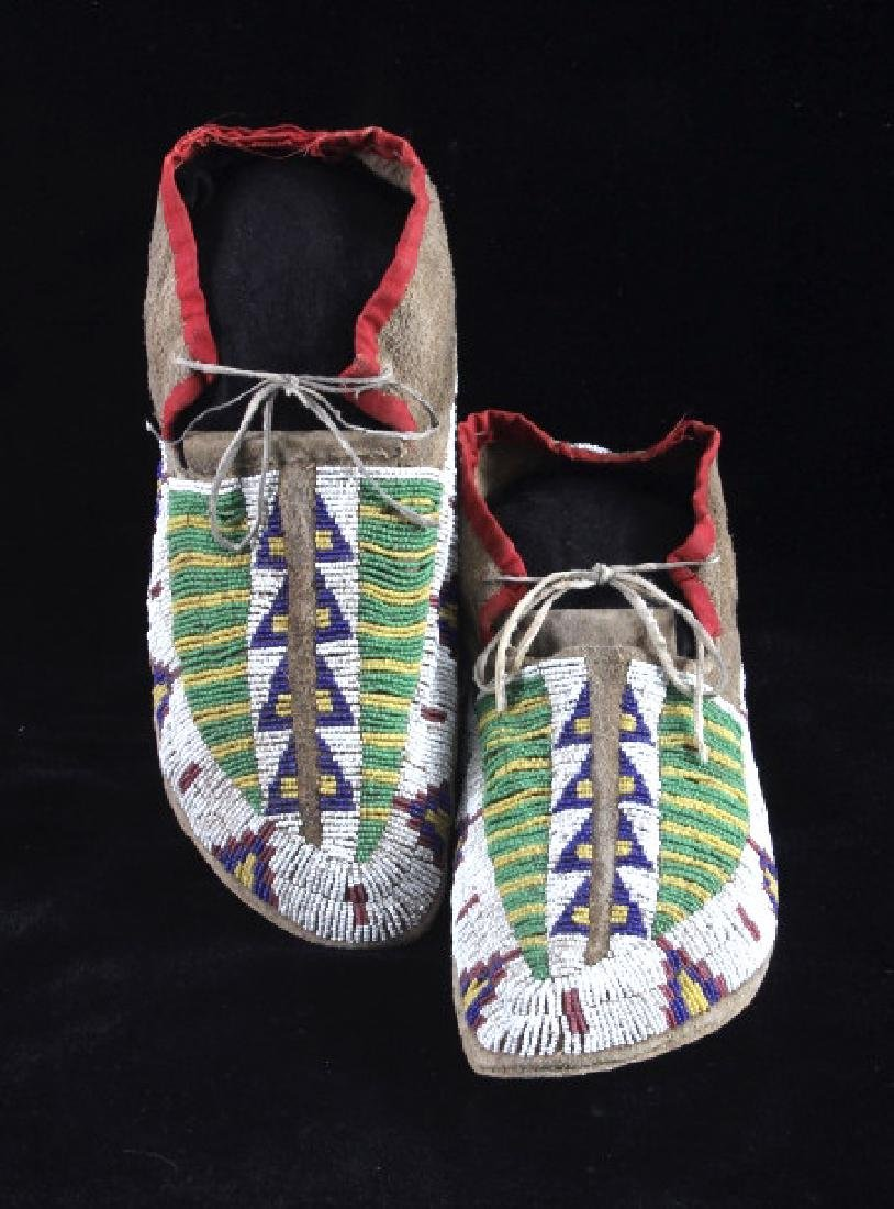 Cheyenne Fully Beaded Moccasins circa 1880