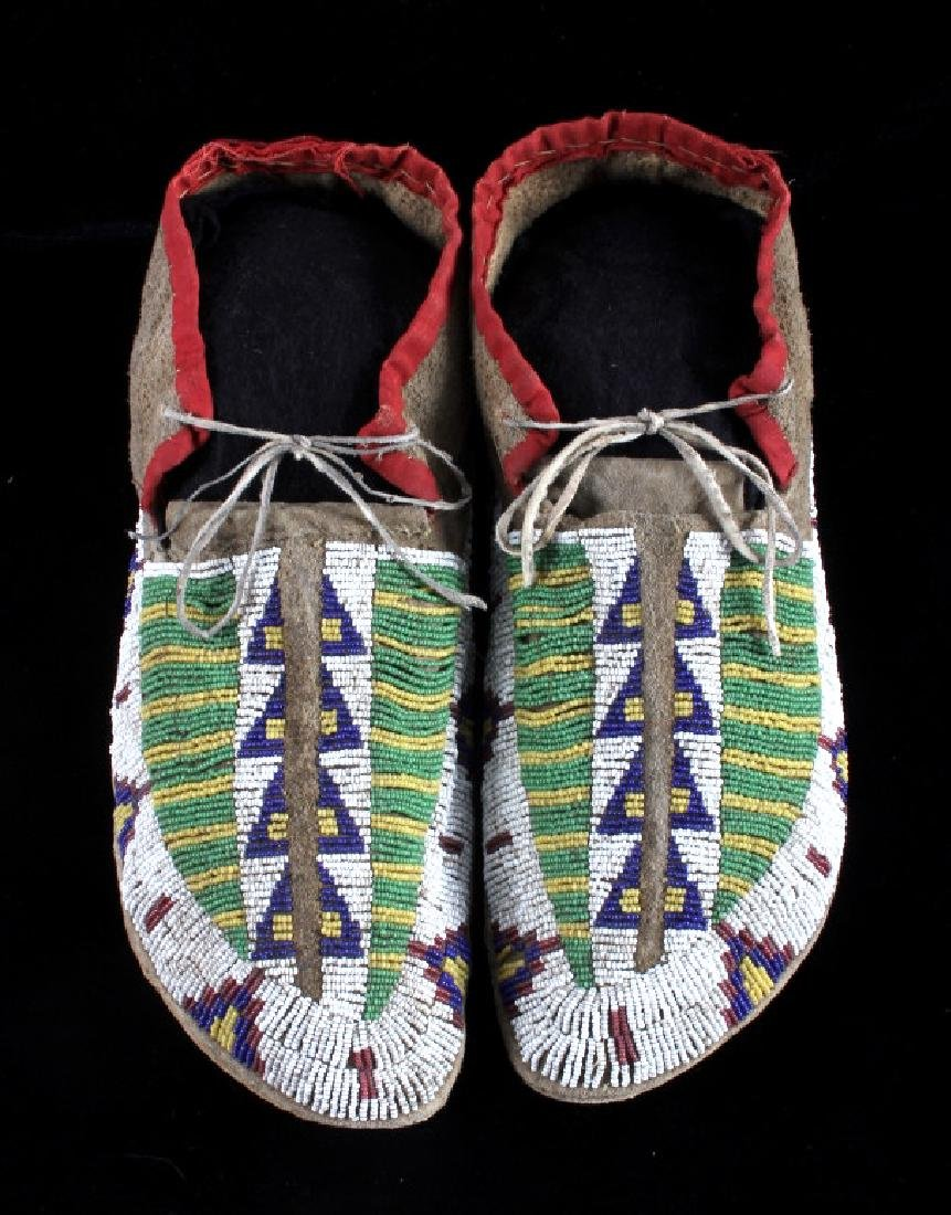 Cheyenne Fully Beaded Moccasins circa 1880 - 2