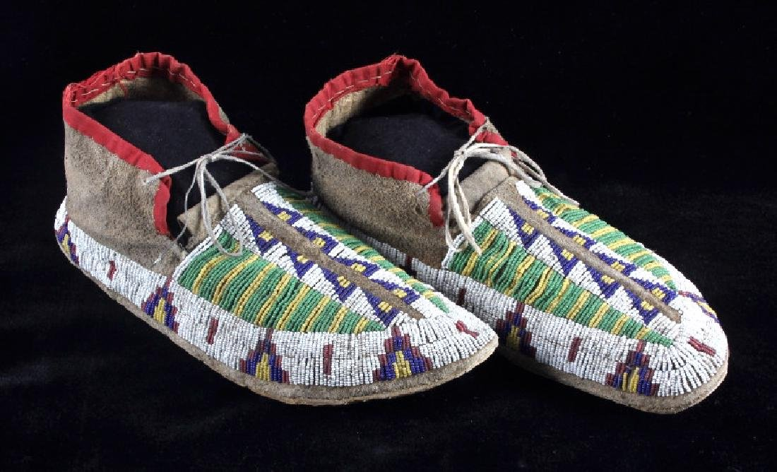 Cheyenne Fully Beaded Moccasins circa 1880 - 3