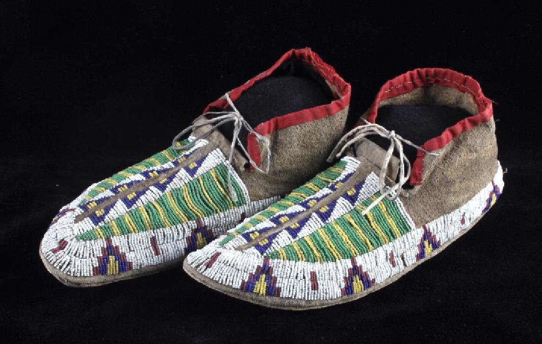 Cheyenne Fully Beaded Moccasins circa 1880 - 4