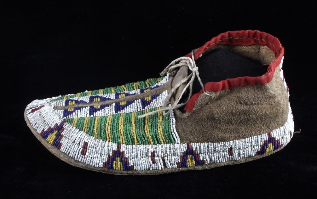Cheyenne Fully Beaded Moccasins circa 1880 - 5