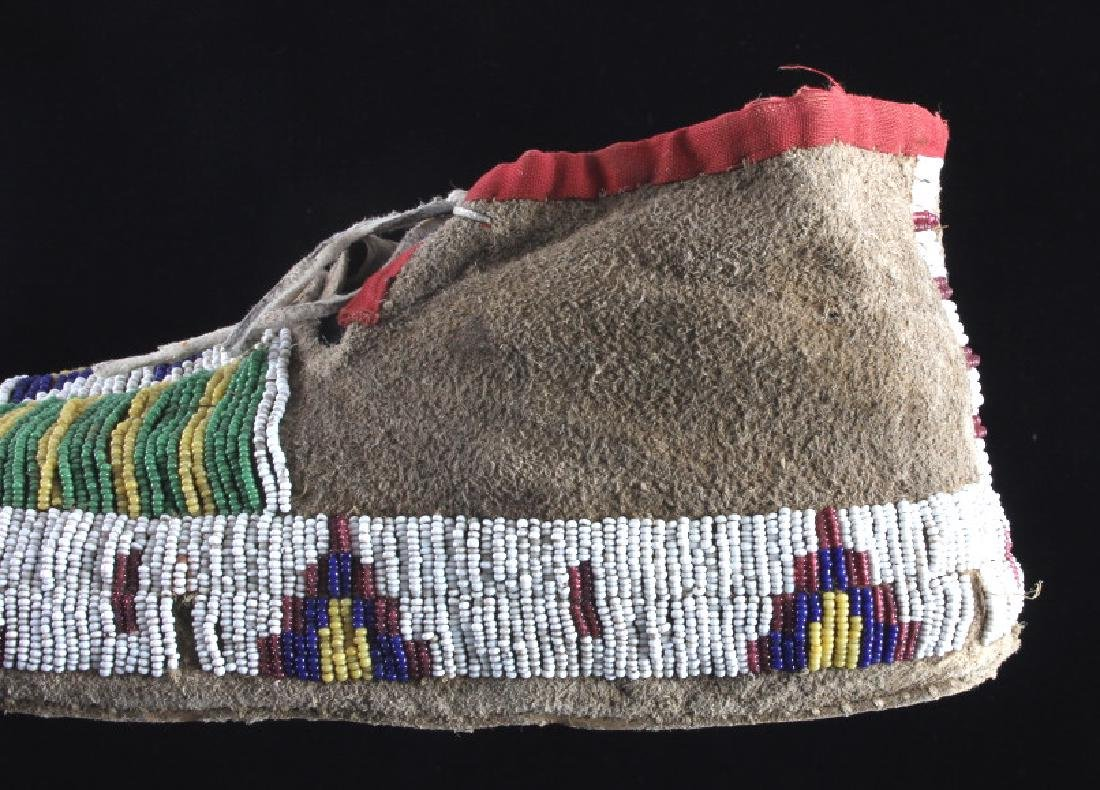Cheyenne Fully Beaded Moccasins circa 1880 - 6