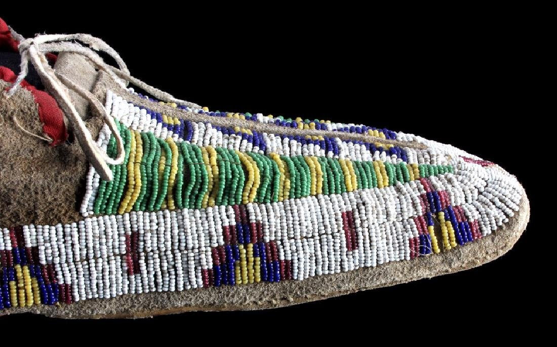 Cheyenne Fully Beaded Moccasins circa 1880 - 8