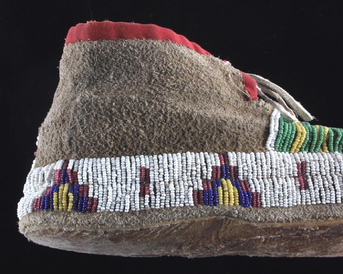 Cheyenne Fully Beaded Moccasins circa 1880 - 9