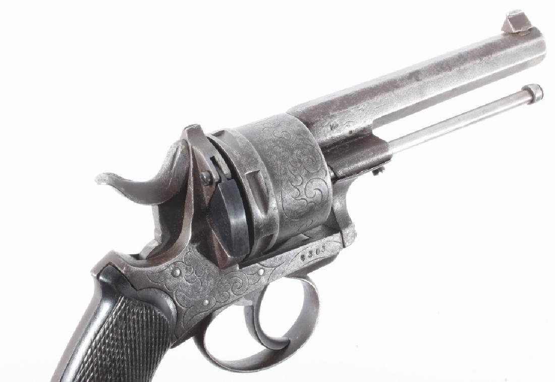 Engraved European .45 Cal Officer's DA Revolver - 10
