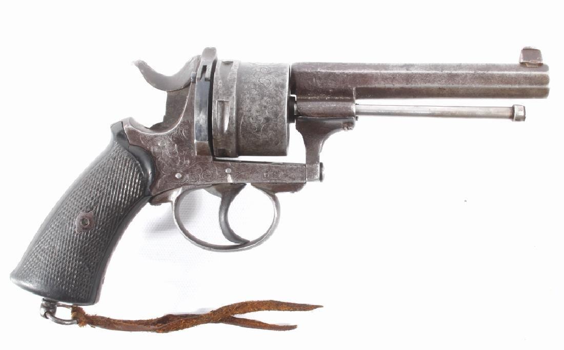 Engraved European .45 Cal Officer's DA Revolver