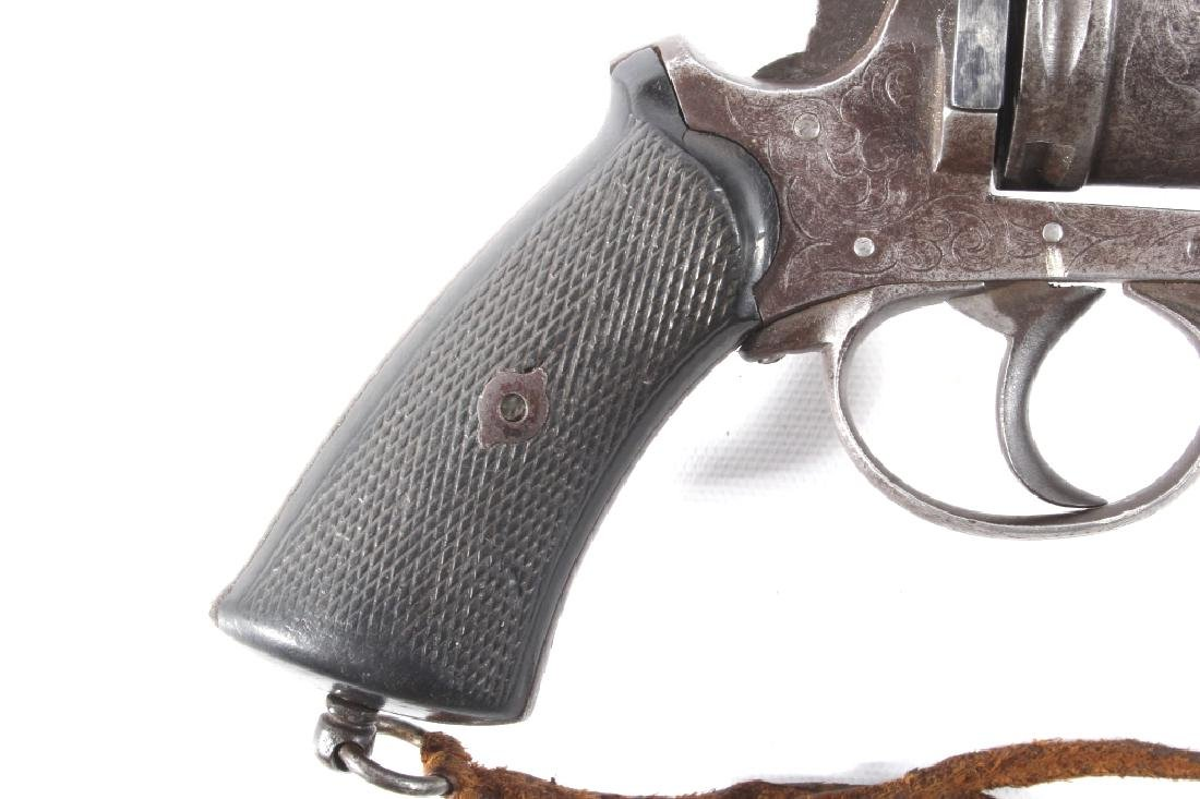 Engraved European .45 Cal Officer's DA Revolver - 2