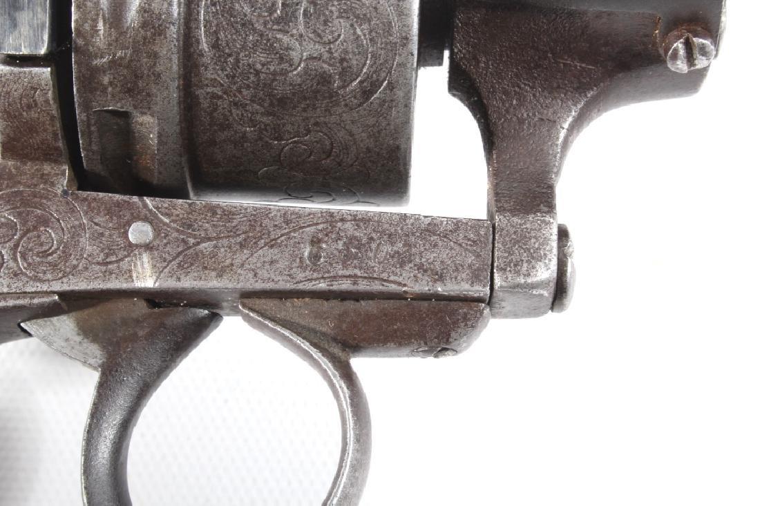 Engraved European .45 Cal Officer's DA Revolver - 5