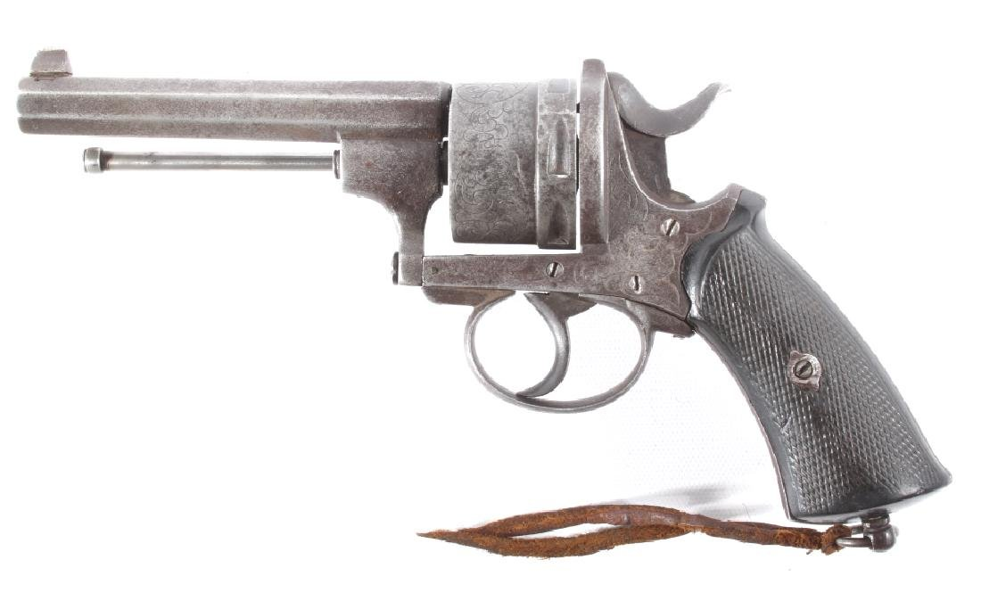 Engraved European .45 Cal Officer's DA Revolver - 6
