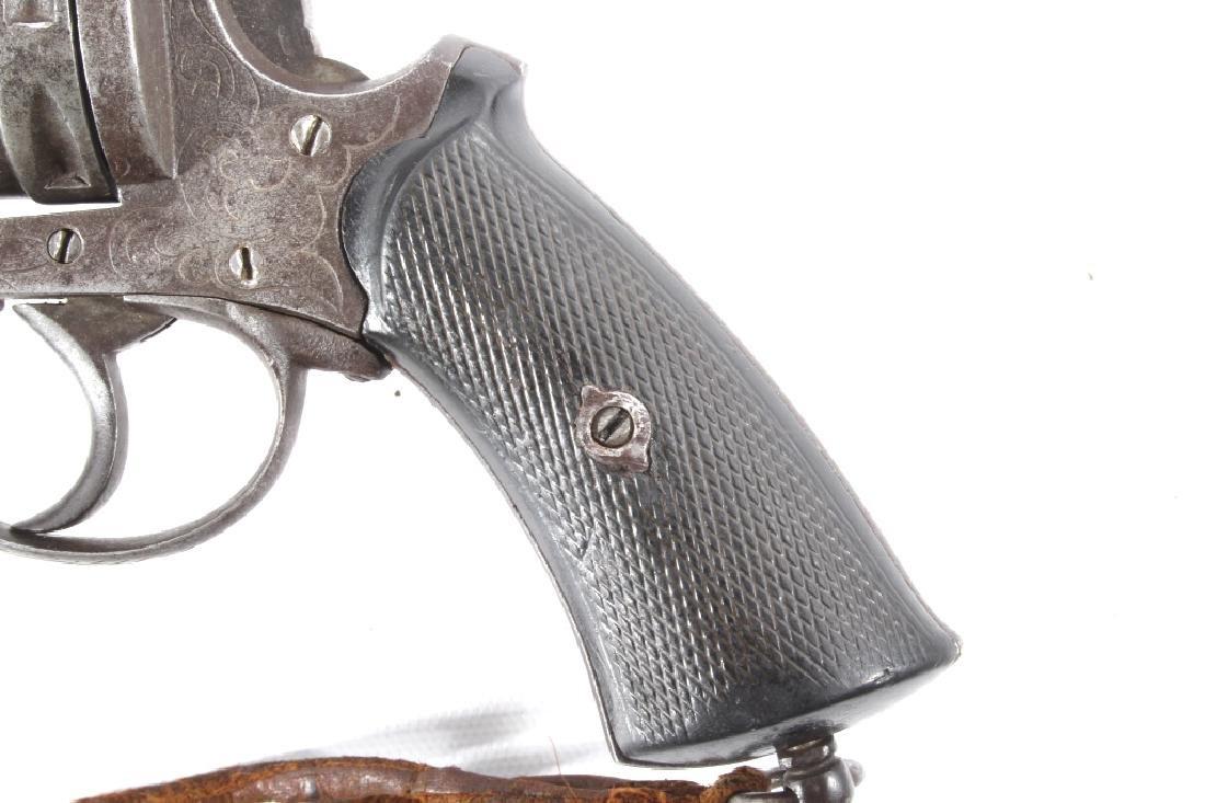 Engraved European .45 Cal Officer's DA Revolver - 7