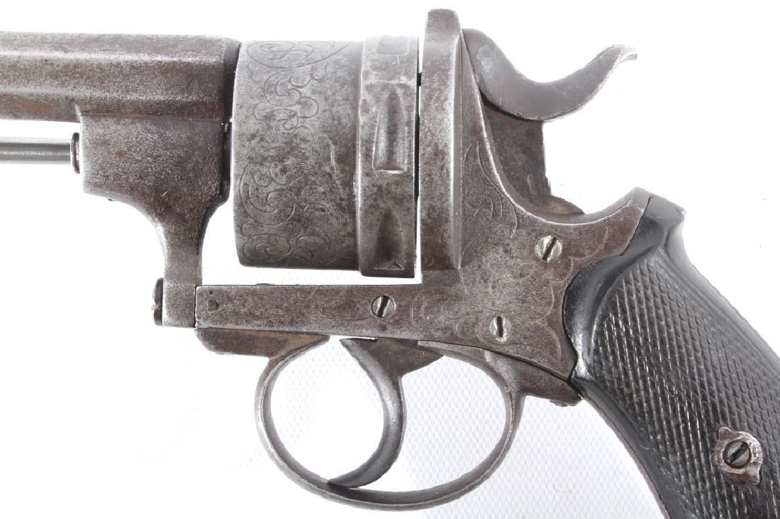 Engraved European .45 Cal Officer's DA Revolver - 8