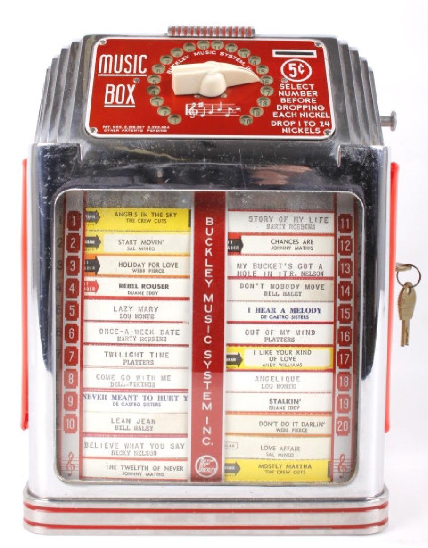 Buckley 5¢ 20-Track Jukebox Wall Box Remote