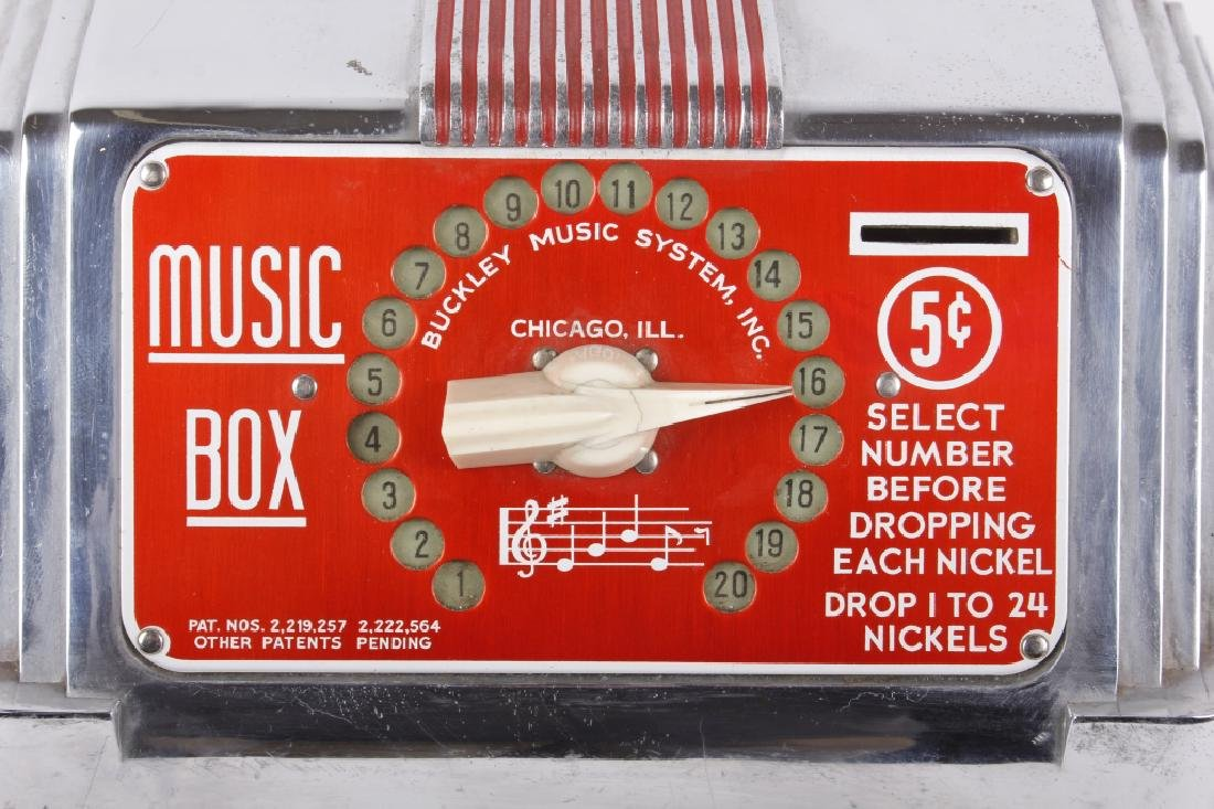 Buckley 5¢ 20-Track Jukebox Wall Box Remote - 2