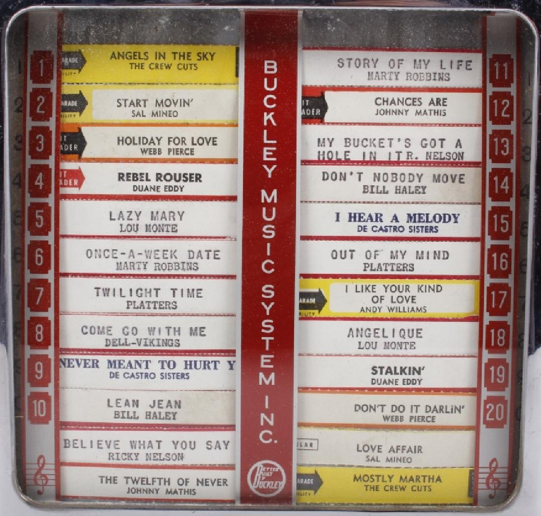 Buckley 5¢ 20-Track Jukebox Wall Box Remote - 3