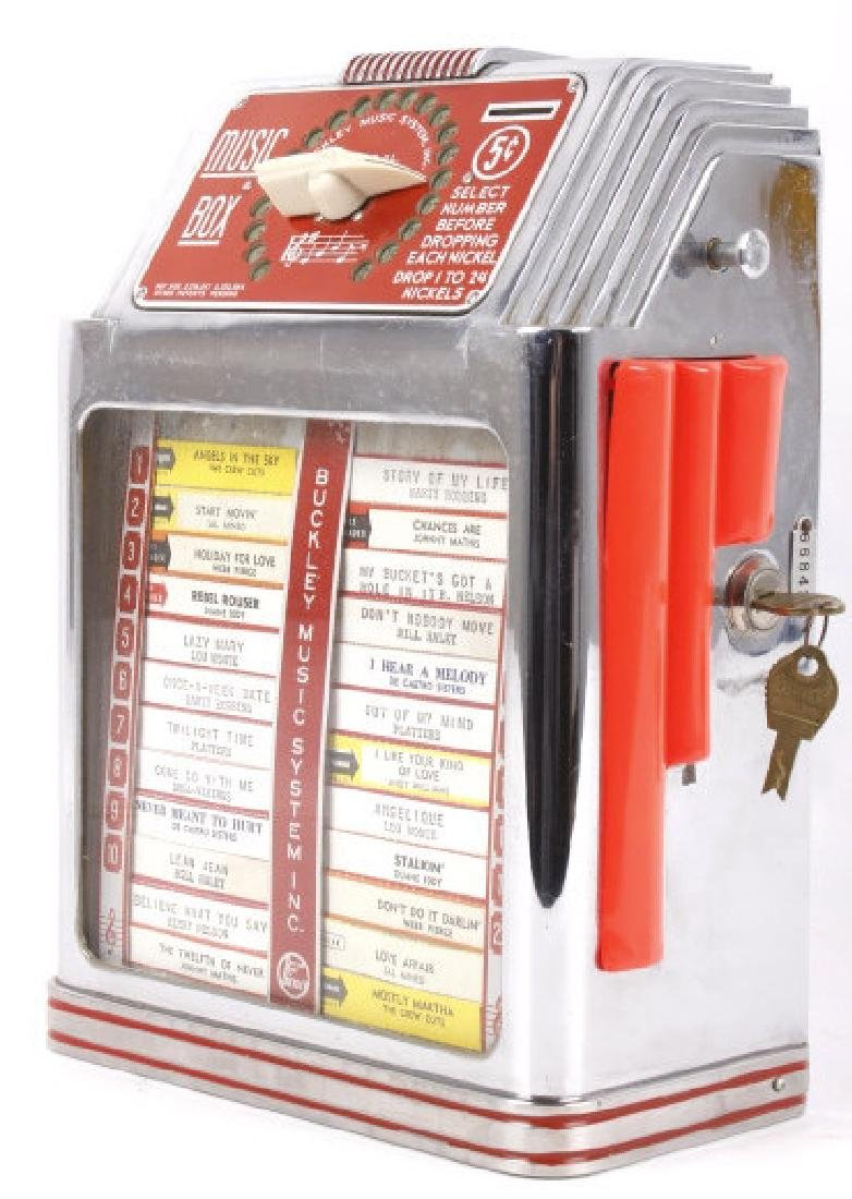 Buckley 5¢ 20-Track Jukebox Wall Box Remote - 4