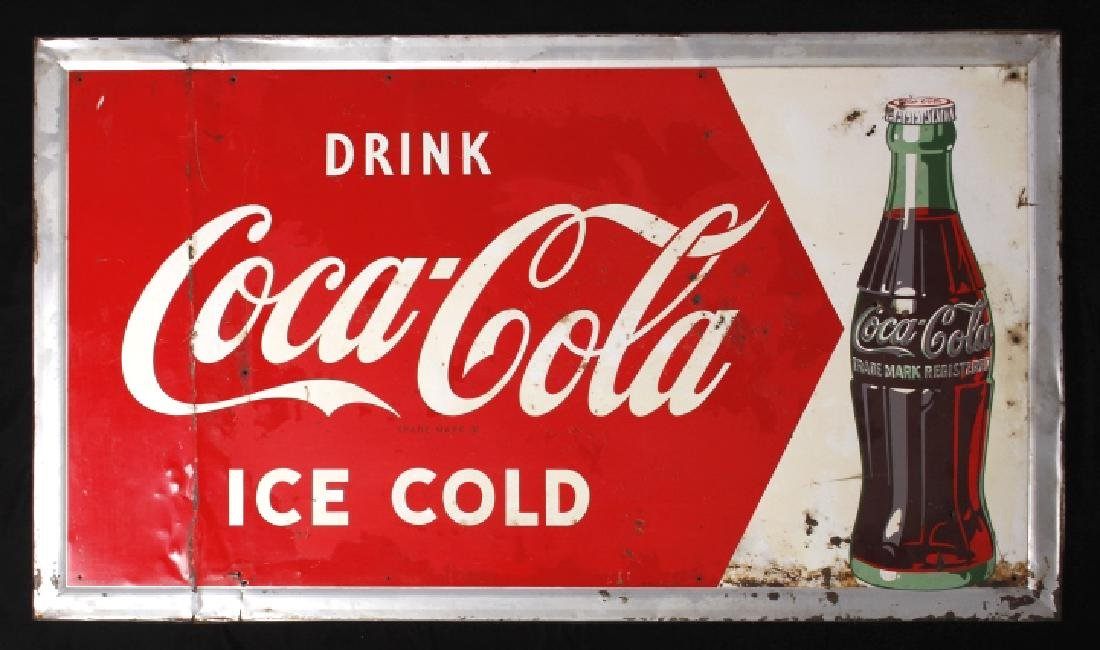 Original c.1950 Coca Cola Advertising Sign