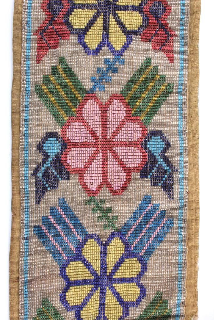 Great Lakes Fully Beaded Bandolier Bag c. 1880- - 11