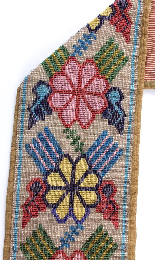 Great Lakes Fully Beaded Bandolier Bag c. 1880- - 12