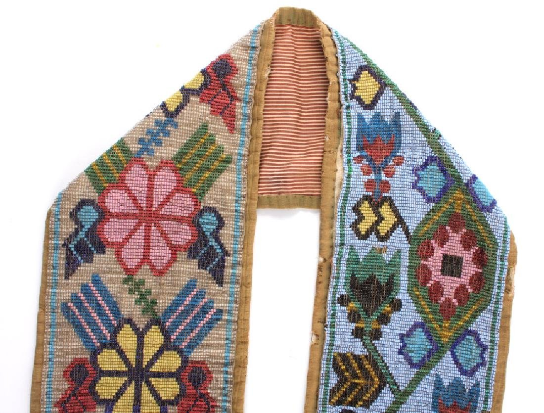 Great Lakes Fully Beaded Bandolier Bag c. 1880- - 13