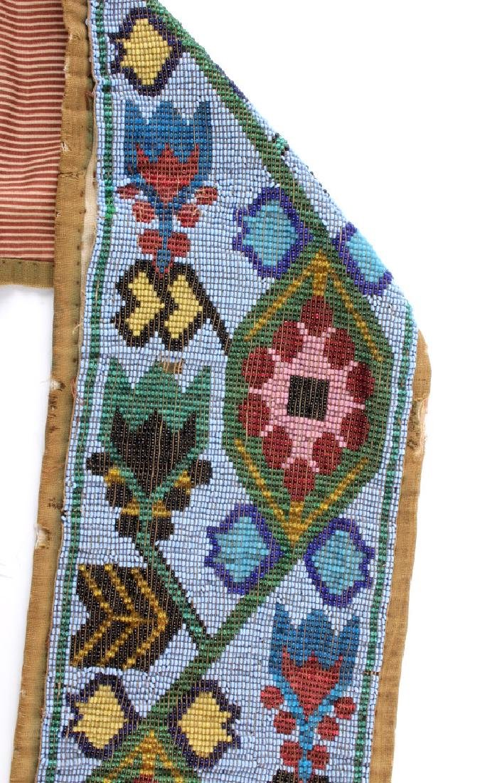 Great Lakes Fully Beaded Bandolier Bag c. 1880- - 14