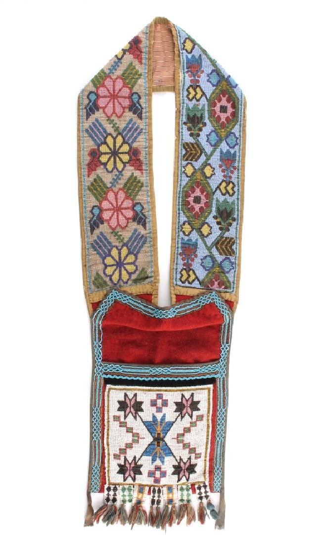 Great Lakes Fully Beaded Bandolier Bag c. 1880- - 18