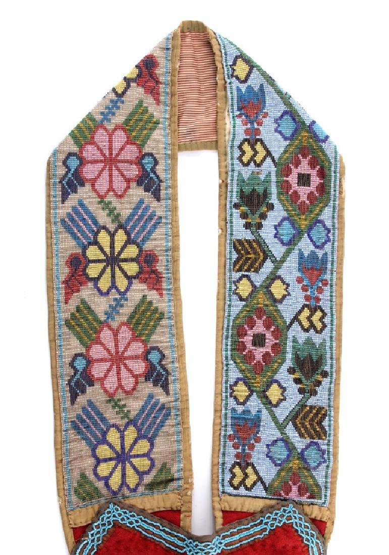 Great Lakes Fully Beaded Bandolier Bag c. 1880- - 2