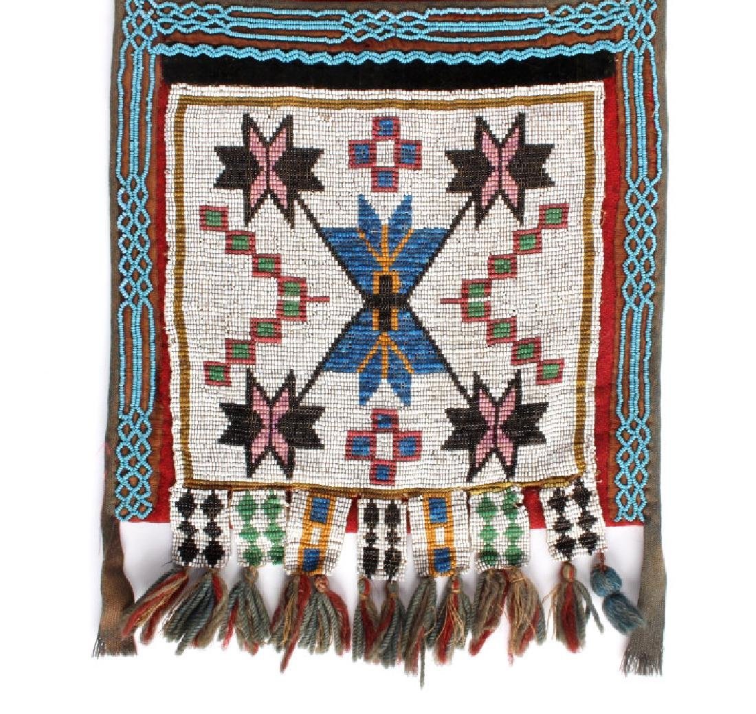 Great Lakes Fully Beaded Bandolier Bag c. 1880- - 3