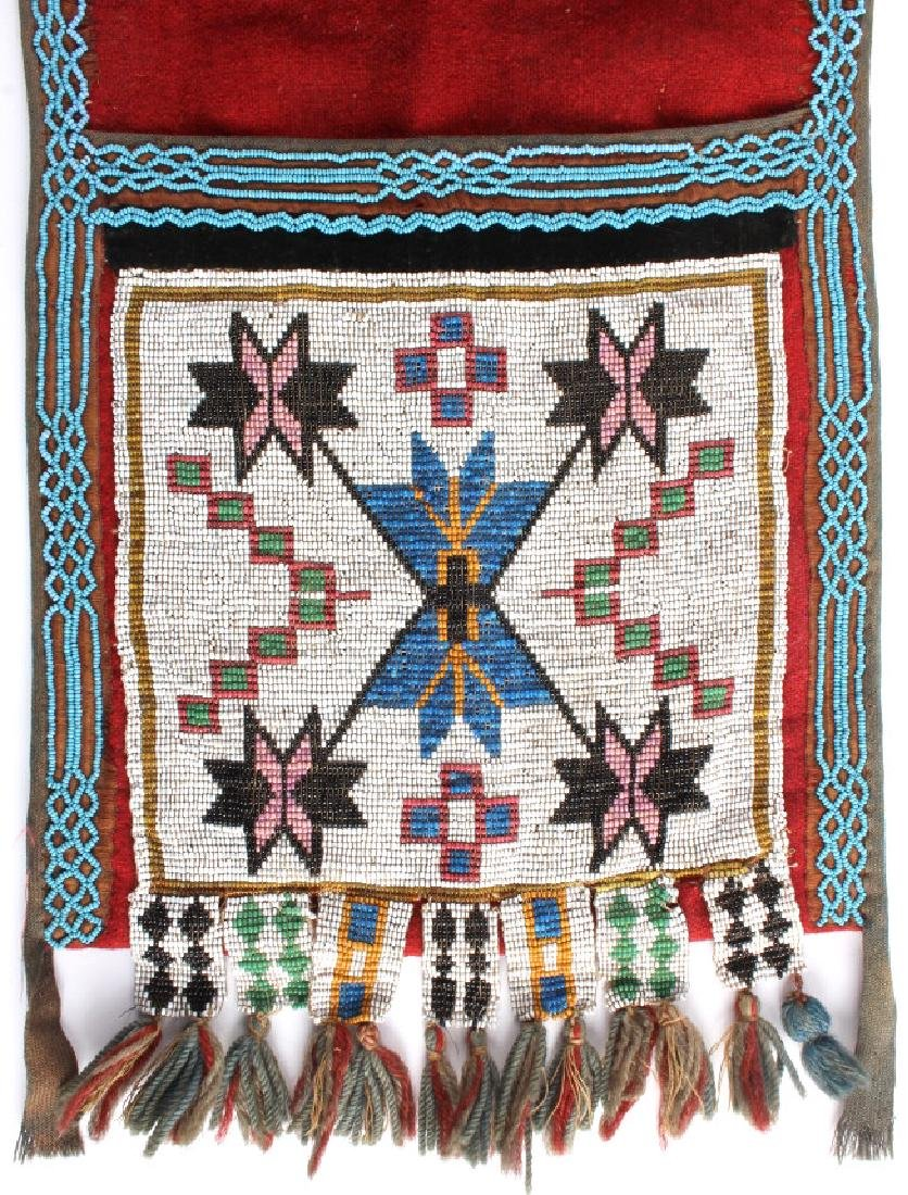 Great Lakes Fully Beaded Bandolier Bag c. 1880- - 4