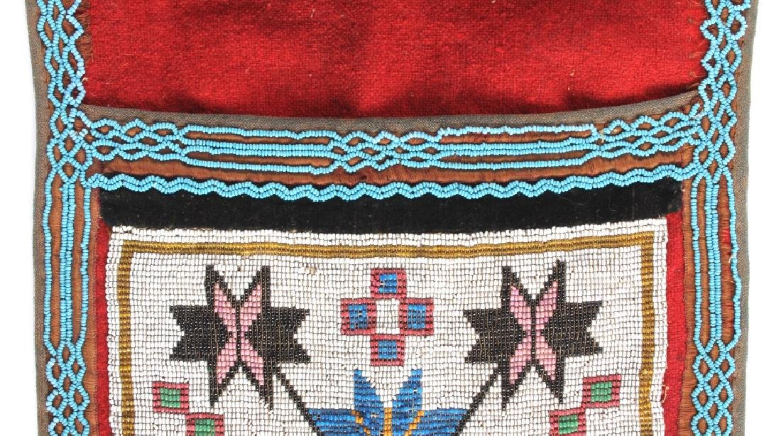Great Lakes Fully Beaded Bandolier Bag c. 1880- - 9