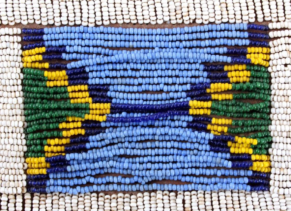 Nez Perce Beaded & Tacked Leather Belt circa 1880- - 9