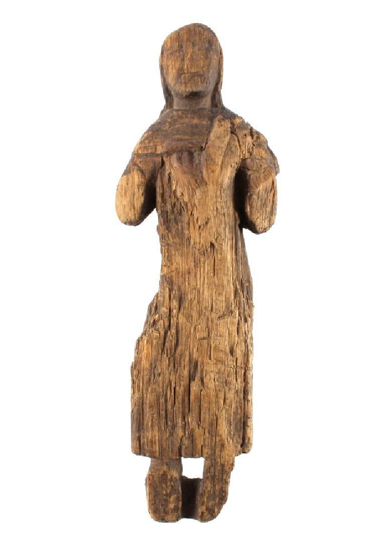 Northwest Coast Carved Wood Doll 18th-19th C.