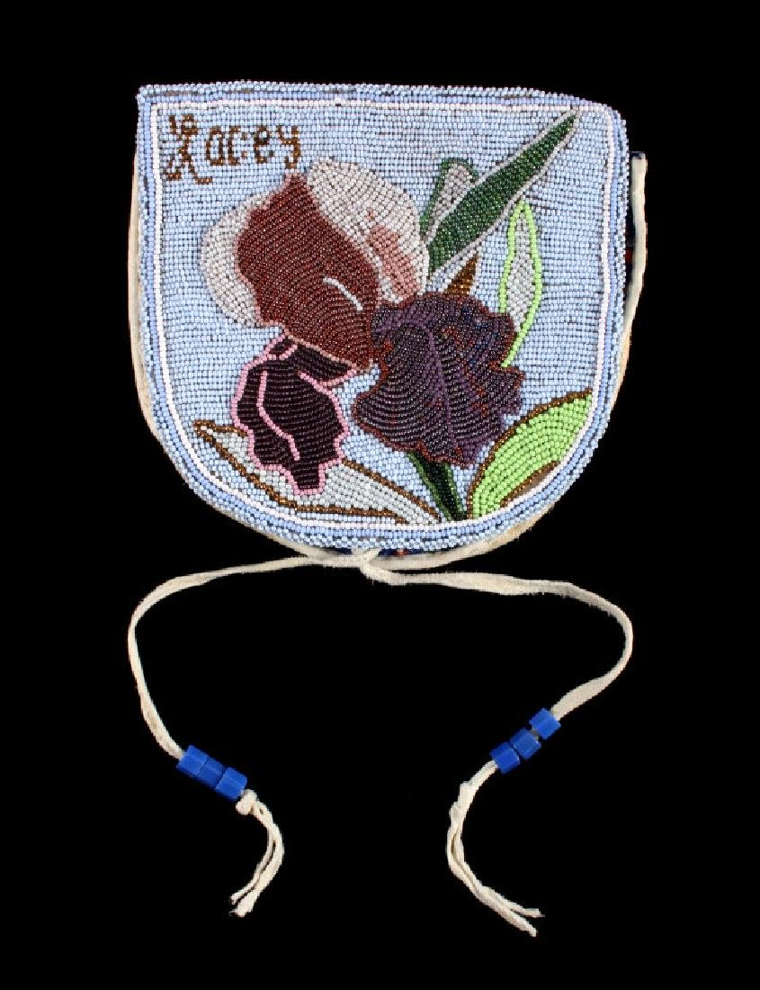 Nez Perce Fully Beaded Floral Belt Pouch