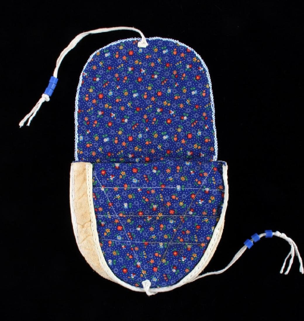 Nez Perce Fully Beaded Floral Belt Pouch - 6