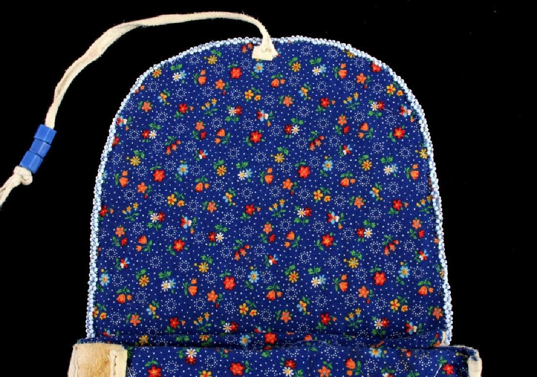 Nez Perce Fully Beaded Floral Belt Pouch - 7