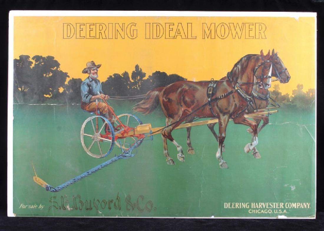 Original 1900 Deering Harvester Advertising Poster